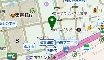 新宿モノリスビル駐車場の地図画像