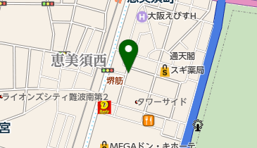 リパーク通天閣の地図画像