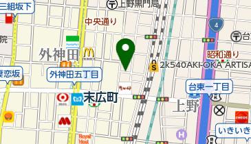 リパーク上野3丁目の地図画像