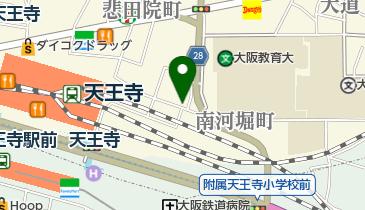 リパーク天王寺の地図画像