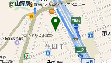 リパーク生田町の地図画像