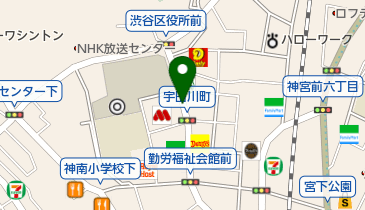 渋谷区役所前公共駐車場の地図画像