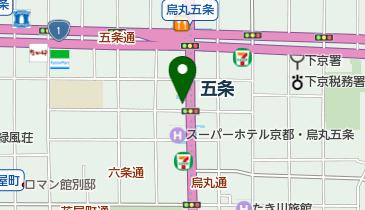 リパークワイド地下鉄五条駅前の地図画像