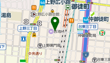 リパーク上野3丁目第2の地図画像