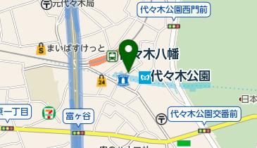 リパーク代々木八幡駅前の地図画像