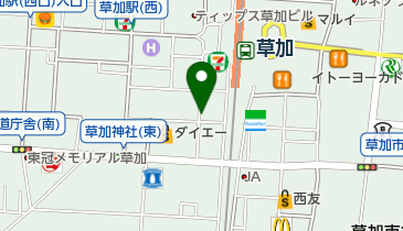 リパーク草加駅西口第6の地図画像