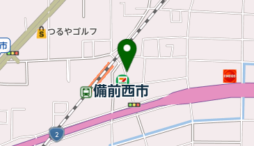 リパーク岡山西市駅前第2の地図画像