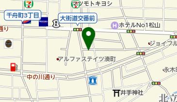 リパーク松山湊町2丁目第2の地図画像