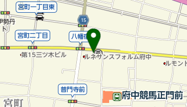 ナビパーク 府中八幡町第2(ゆうゆうナビパーク)の地図画像