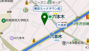 【予約制】タイムズのB トラストパークレム六本木ビルの地図画像