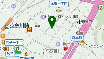 【専用アプリDL必須】Peasy川崎堀之内1丁目メインステージ川崎駅前第1駐車場の地図画像