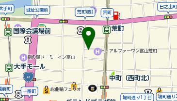システムパーク富山総曲輪の地図画像