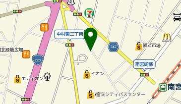 宮交シティAEON駐車場Eの地図画像