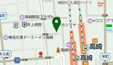 高崎高島屋駐車場の地図画像