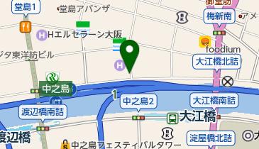 ANAクラウンプラザホテル大阪駐車場の地図画像