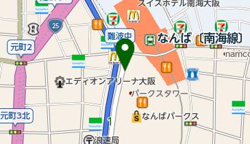 なんばCITY駐車場の地図画像