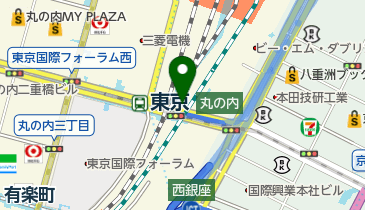 鍛冶橋高架下自転車駐車場の地図画像
