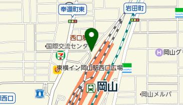 岡山駅西口第2自転車等駐車場の地図画像