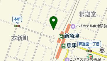 JR魚津駅西側自転車等駐車場の地図画像