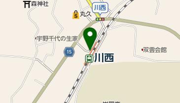 川西駅自転車駐輪場の地図画像