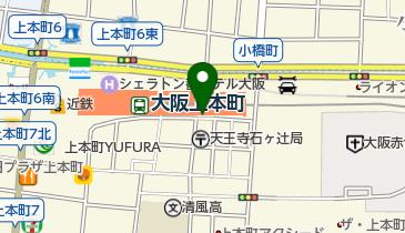 上本町駅・谷町九丁目駅自転車駐車場の地図画像