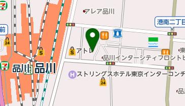 品川駅港南口公共駐車場の地図画像