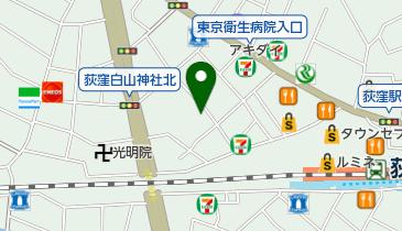 荻窪西第二自転車駐車場の地図画像
