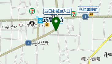 新高円寺地下自転車駐車場の地図画像