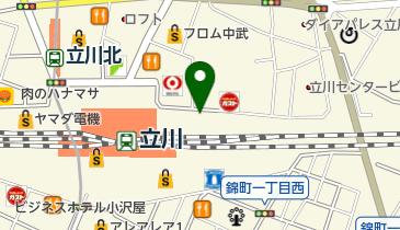 【バイク】エキュート立川バイク駐車場の地図画像