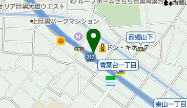 【バイク】ドン・キホーテ 中目黒本店 駐車場の地図画像