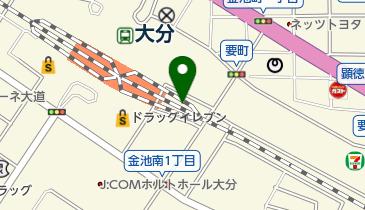 【バイク】大分駅高架下東駐輪場の地図画像