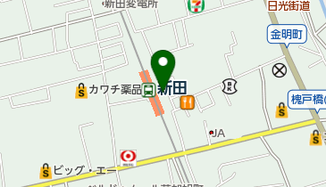 TOBU PARK 新田駅前駐輪場の地図画像